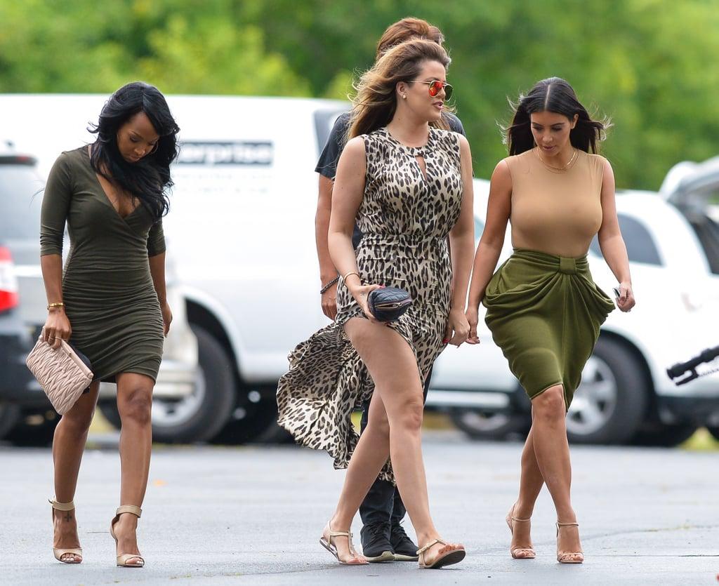 Kim met up with Khloé, Malika Haqq, and Jonathan Cheban in New York on Tuesday.
