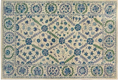 Steal of the Day: Susan Sargent Suzani Blue Tufted Rug