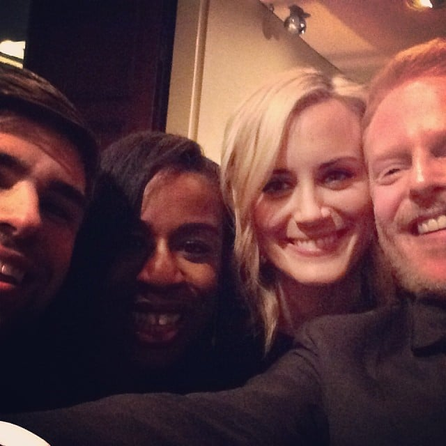 For TV fans, it felt like two universes were colliding when Orange Is the New Black stars Uzo Aduba and Taylor Schilling hung out with Modern Family's Jesse Tyler Ferguson and his husband, Justin Mikita, during the White House Correspondents' Dinner weekend in May 2014.