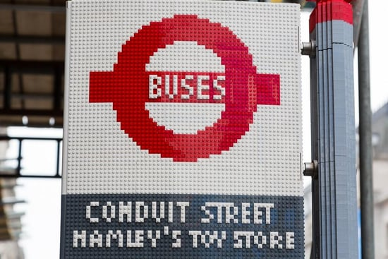 With a Lego Bus Stop, London Is Officially the Only Place to Go This Summer