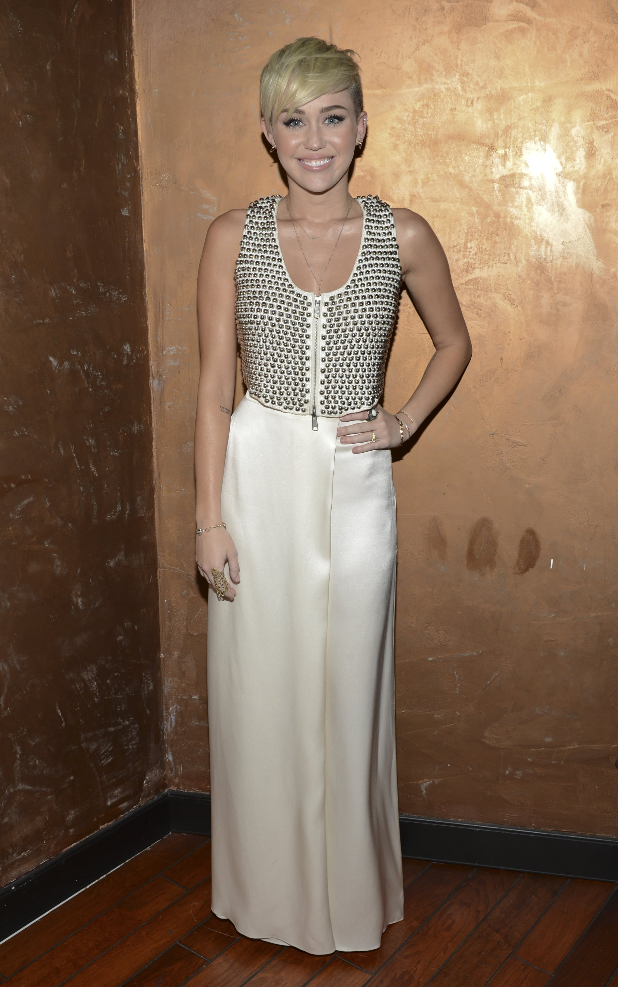 Miley Cyrus stepped out to honor Halston CEO Ben Malka in LA