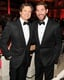 John Krasinski and Colin Firth suited up inside the Met Gala.  Source: Billy Farrell/BFANYC.com