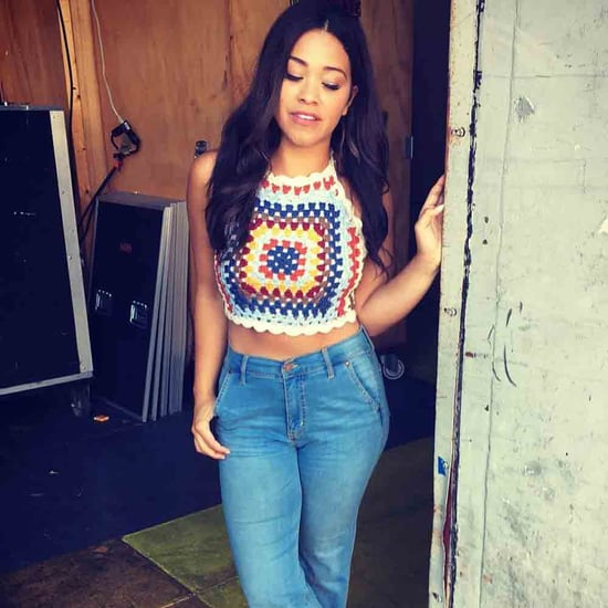 Gina Rodriguez Wearing a Crop Top August 2016