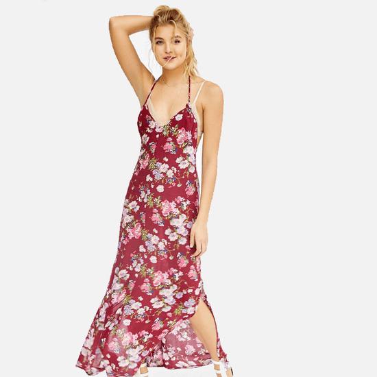 A Floral Maxi Dress