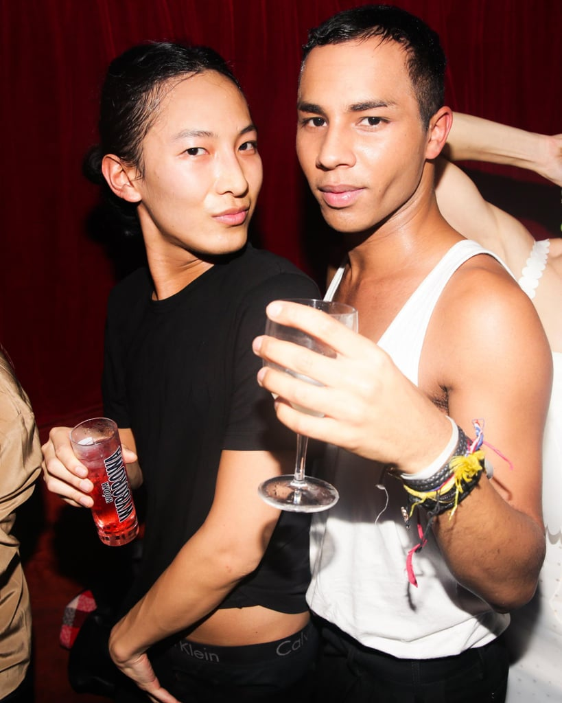 Alexander Wang and Olivier Rousteing let loose after their collections walked at Paris Fashion Week while attending the Made bash.