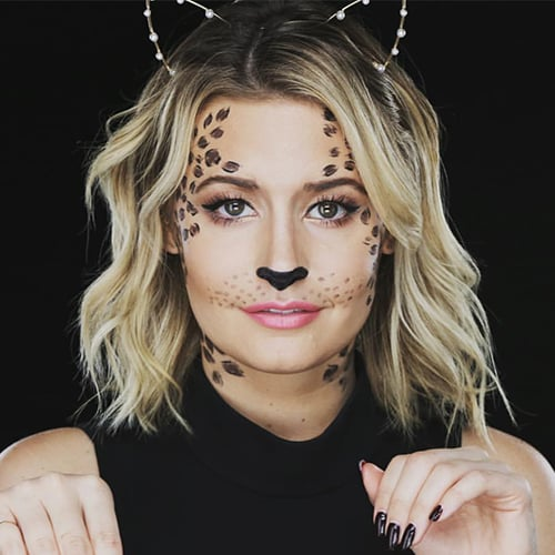 DIY Halloween Costume For the Lazy: Leopard Makeup