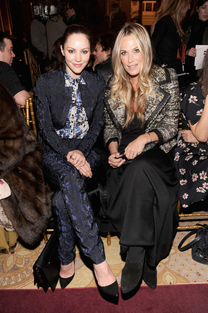 Katherine McPhee and Molly Sims checked out Zac Posen's Sunday show.