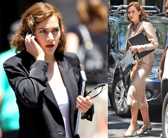 PIctures of Kate Winslet Filming Mildred Pierce in Manhattan