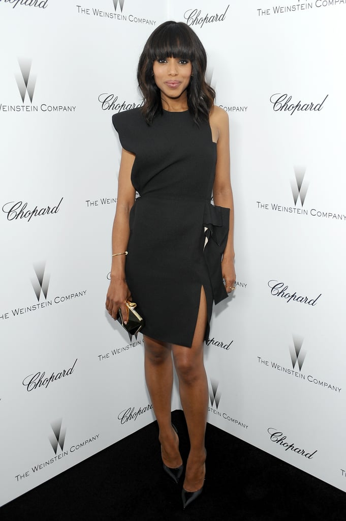 Kerry Washington's asymmetrical Lanvin LBD was anything but boring at the Weinstein Company's pre-Oscars party.