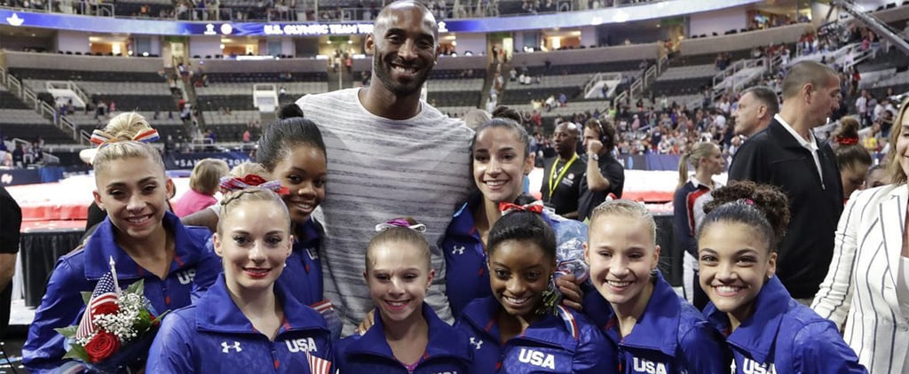 These Tiny Olympic Gymnasts Love Taking Pictures With Super Tall Athletes
