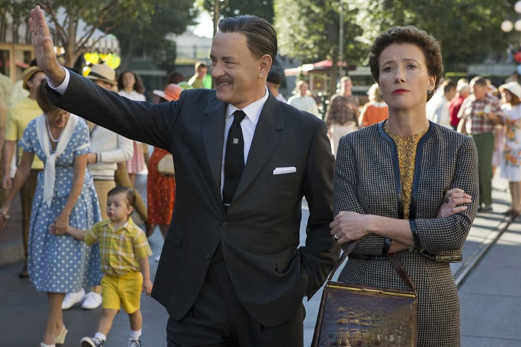 Saving Mr. Banks  What it's about: Tom Hanks stars as Walt Disney in this family film. The story follows Disney as he courts British author P.L. Travers (Emma Thompson) for film rights to her novel Mary Poppins. Why we're interested: America's sweetheart Hanks playing one of the most lovable men in history? Sold. When it opens: Dec. 13 Watch the trailer for Saving Mr. Banks.