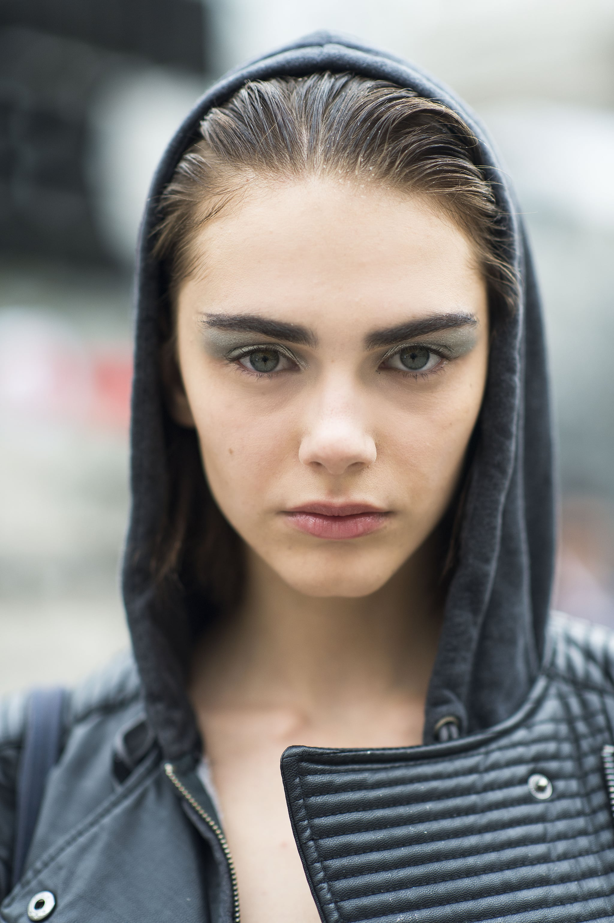 Try a gray shadow for a fashionably edgy take on a classic smoky eye. Source: Le 21ème | Adam Katz Sinding
