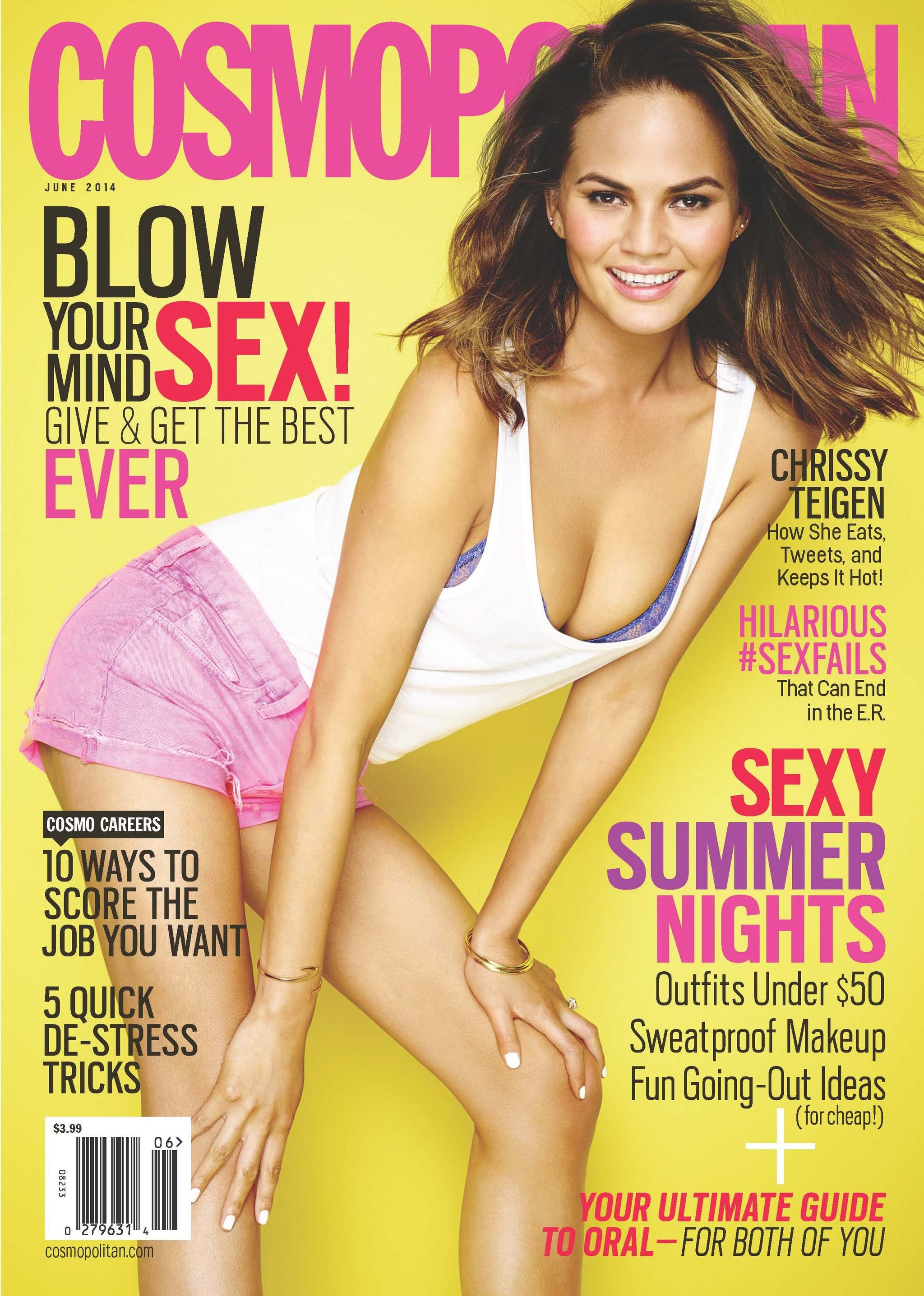 Chrissy struck a pose for the cover. Source: Cosmopolitan / Eric Ray Davidson