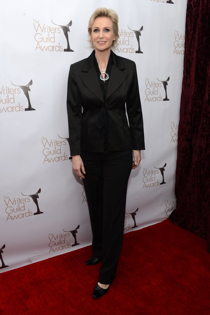 Jane Lynch wore a simple suit.