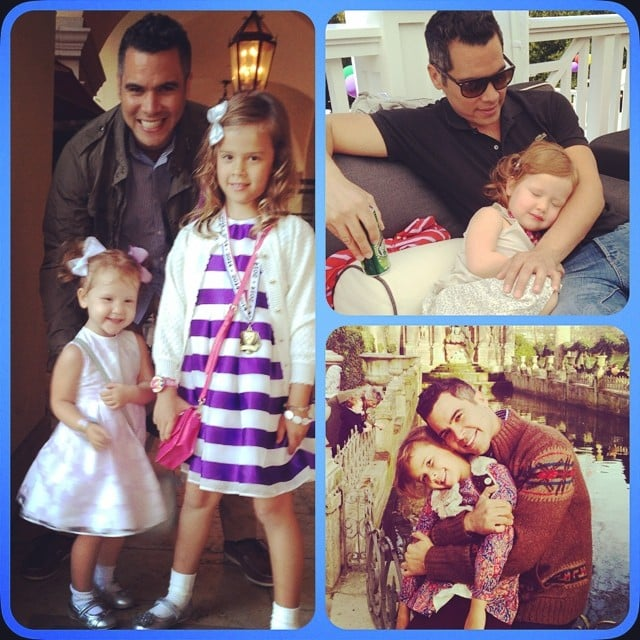 """Jessica Alba put together a photo collage of some daddy-daughter moments with Cash, Honor, and Haven Warren from the past year, saying, """"#HappyFathersDay @cash_warren! Our girls r so lucky ur their daddy! Xo"""" Source: Instagram user jessicaalba"""