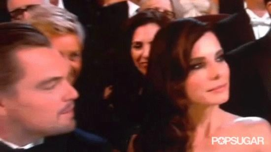Ellen Popped Up In Between Sandra and Leo