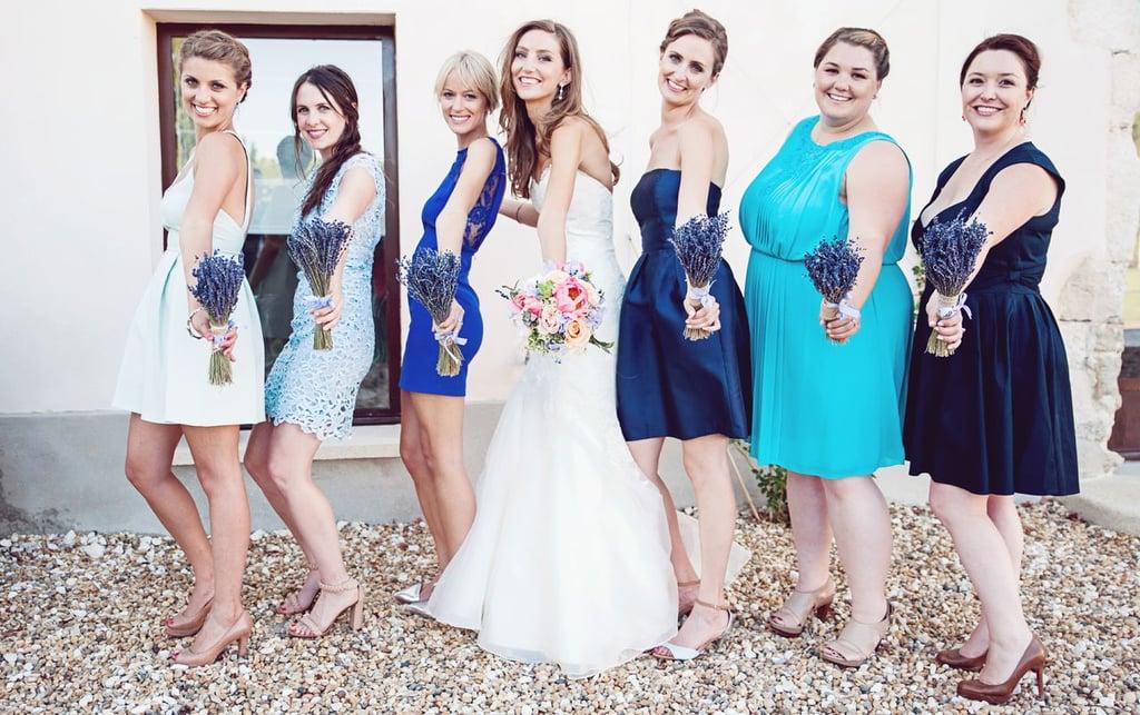 Bridesmaids With Lavender Bouquets