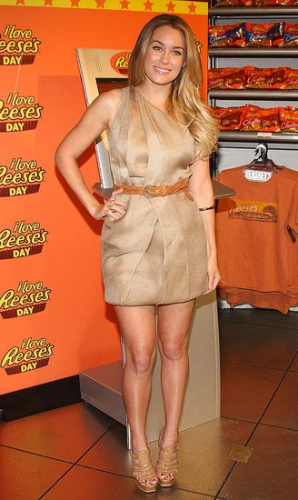 Lauren shows off her sweet tooth and dresses accordingly at I Love Reese's Day in April.