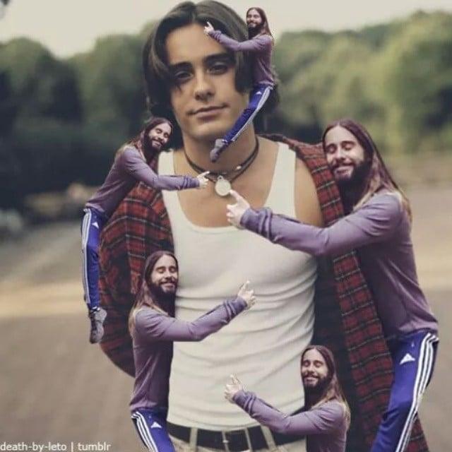 Jared Hugging Himself