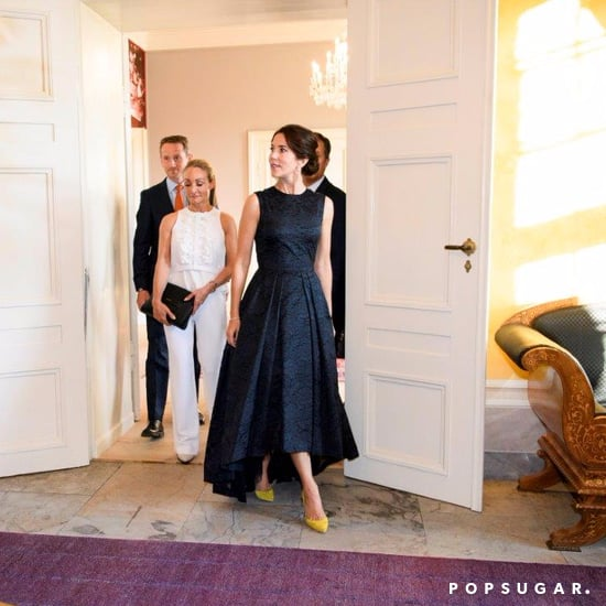 Princess Mary Wearing a Black Dress May 2016