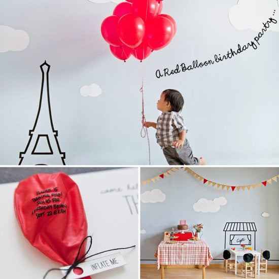 A Parisian, Red Balloon First Birthday Party