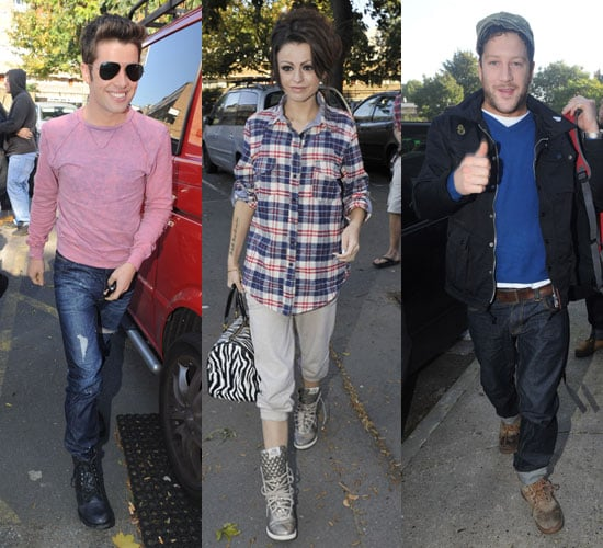 Pictures of The X Factor Finalist Including Cher Lloyd and Matt Cardle Plus Joe McElderry at Rehearsals