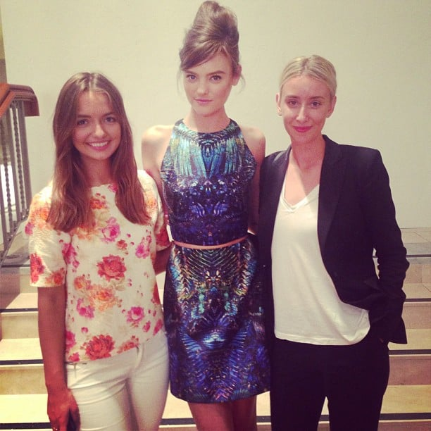 POPSUGAR Australia's fashion editor Jasmine, left, and health and beauty editor Alison, right, met up with model Montana Cox at Wednesday night's David Jones Spring Summer Fashion Launch. FYI, Montana is one of the nicest people you could meet. . . and not bad on the eye!