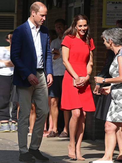 Princess Kate in Red as She and Prince William Highlight Help for Stressed Families