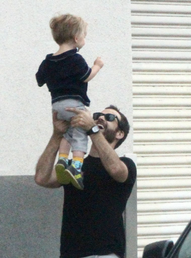 Benjamin Millepied lifted his son, Aleph.