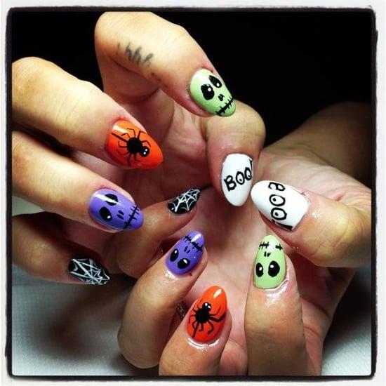 Lily Allen's Halloween Nail Art
