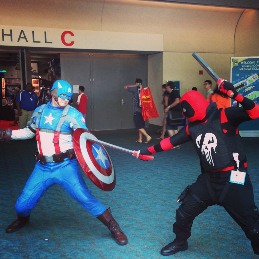 Captain America challenges The Punisher to a duel.