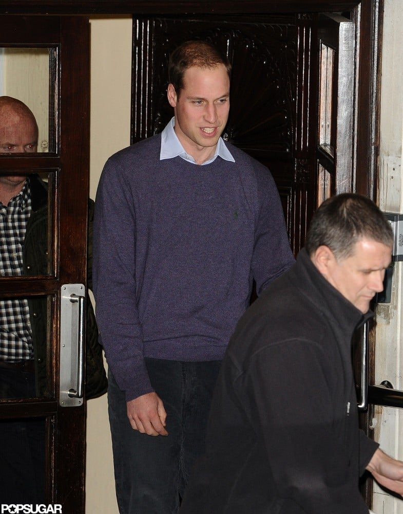 Prince William Returns to Pregnant Kate's Side at the Hospital