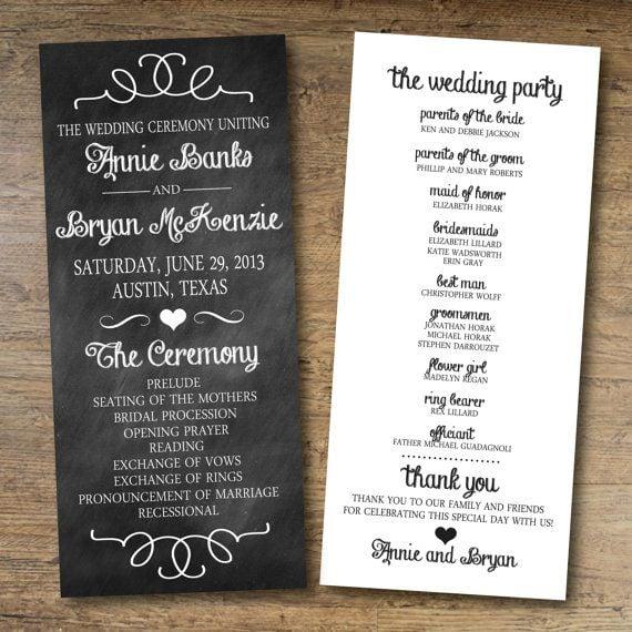 Wedding ceremony printables popsugar australia smart living for Downloadable wedding programs