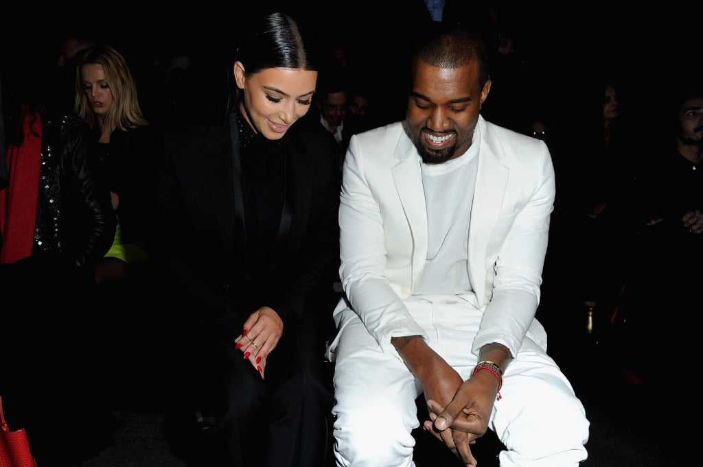 Kim Kardashian and Kanye West at Givenchy.