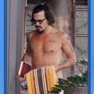 Shirtless Pictures of David Beckham and Johnny Depp