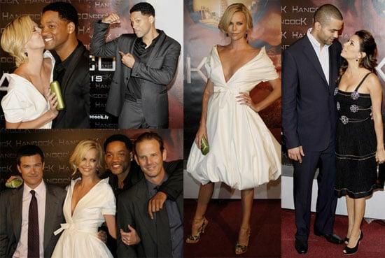 Images of Will Smith, Charlize Theron, Jason Bateman at Hancock Paris Premiere
