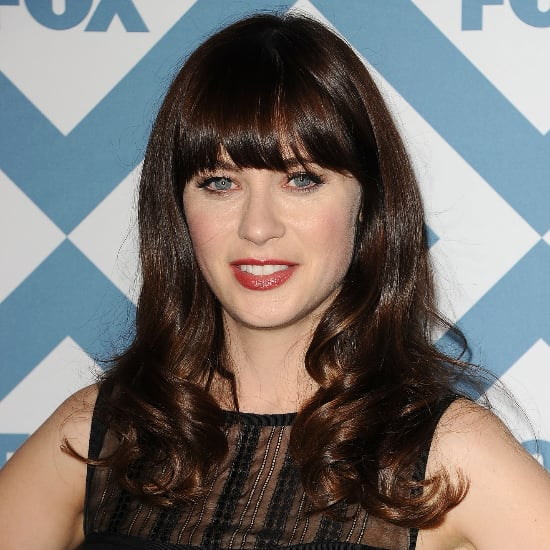 Zooey Deschanel Red Lipstick Fox Party 2014