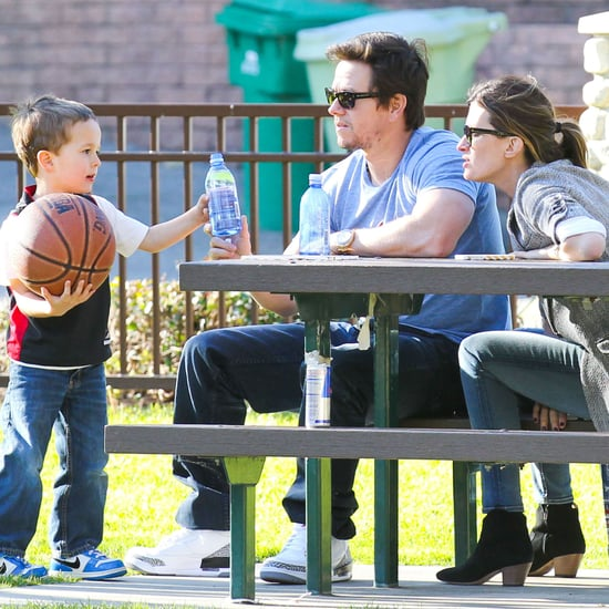 Mark Wahlberg at Basketball Practice With His Son
