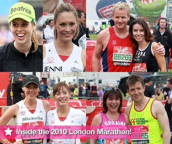 Photos of Celebrities Running the London Marathon 2010 Including Gordon Ramsay, Princess Beatrice, Ricky Whittle