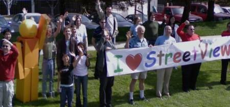 Google Employees Goof Off and Pose For Street View Cameras