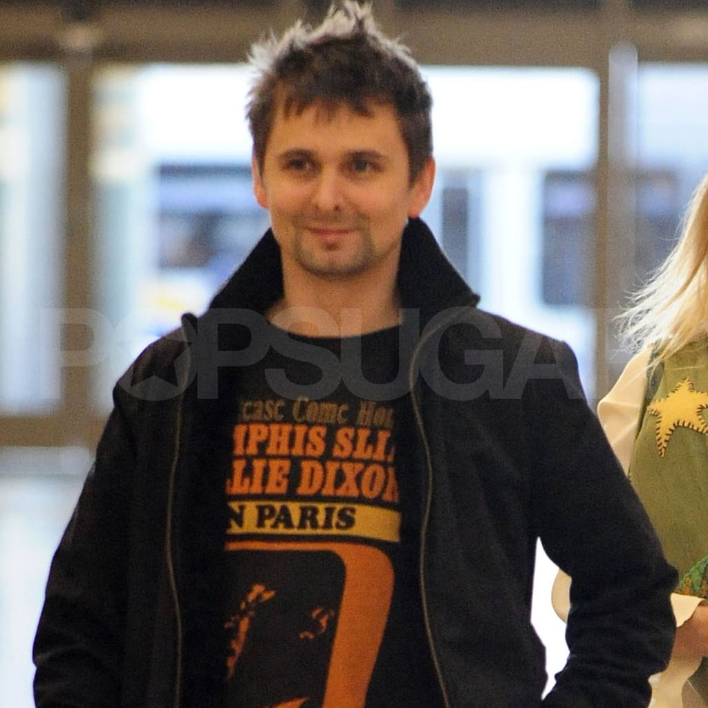 Matt Bellamy took off from LAX with fiancée Kate Hudson.