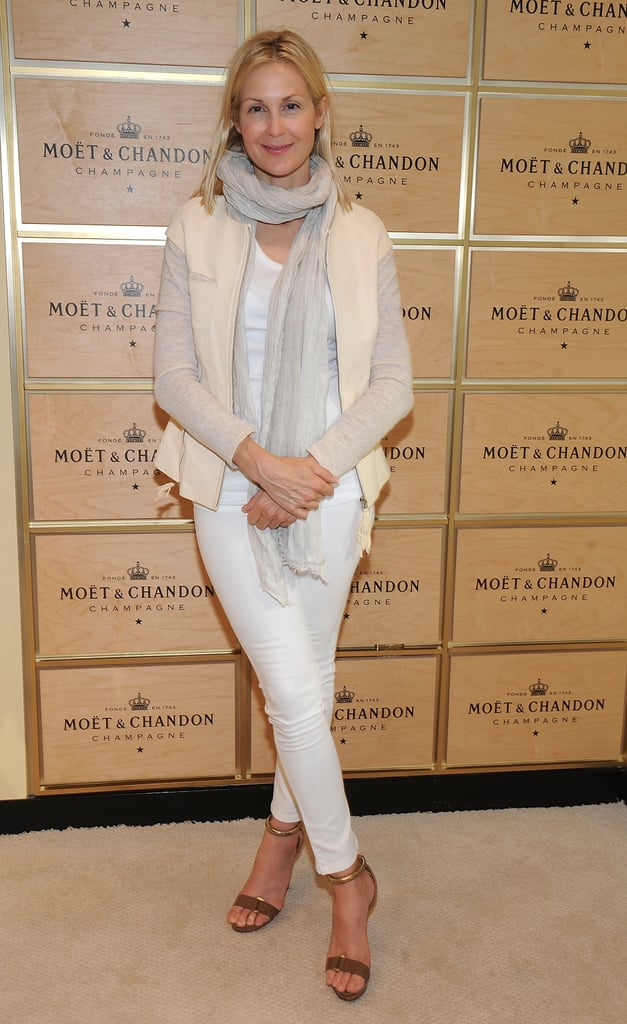 Kelly Rutherford hit up the Moet & Chandon suite before heading to the stands.