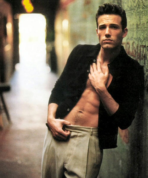 Ben Affleck showed off his sexy six-pack for Vanity Fair in October 1999.