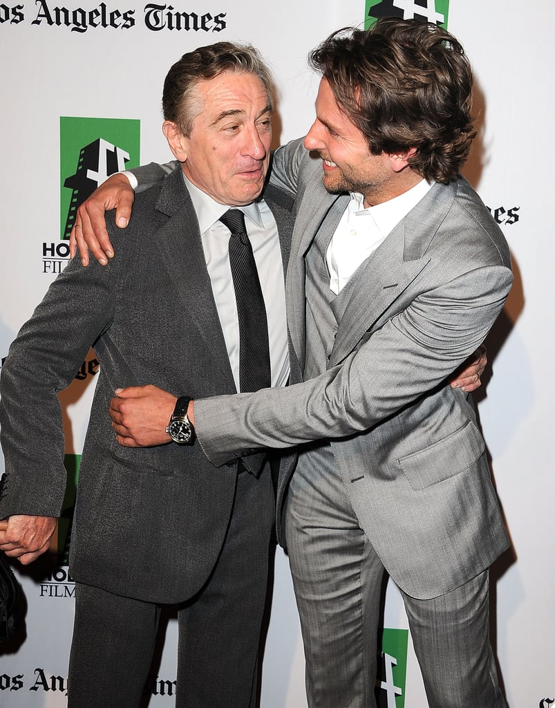 Bradley Cooper and Robert De Niro shared a special bond both on and off screen while working on Silver Linings Playbook. Robert spent time with Bradley's real-life relatives in Philadelphia to prep for his role as Bradley's father in the film.