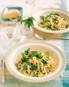 Monday's Leftovers: Fettuccine With Mint, Peas, & Ham