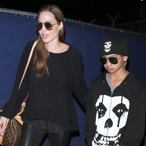 Angelina Jolie Travels With Maddox Jolie-Pitt