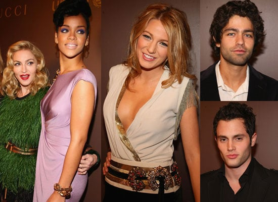 Photos of Rihanna, Madonna, Blake Lively, Penn Badgley, Mary J. Blige and Adrian Grenier at UNICEF/Gucci Tattoo Heart Collection