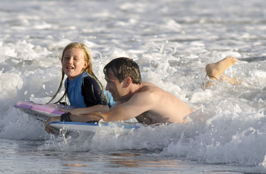 Stephen Moyer and Lilac Moyer caught a wave.