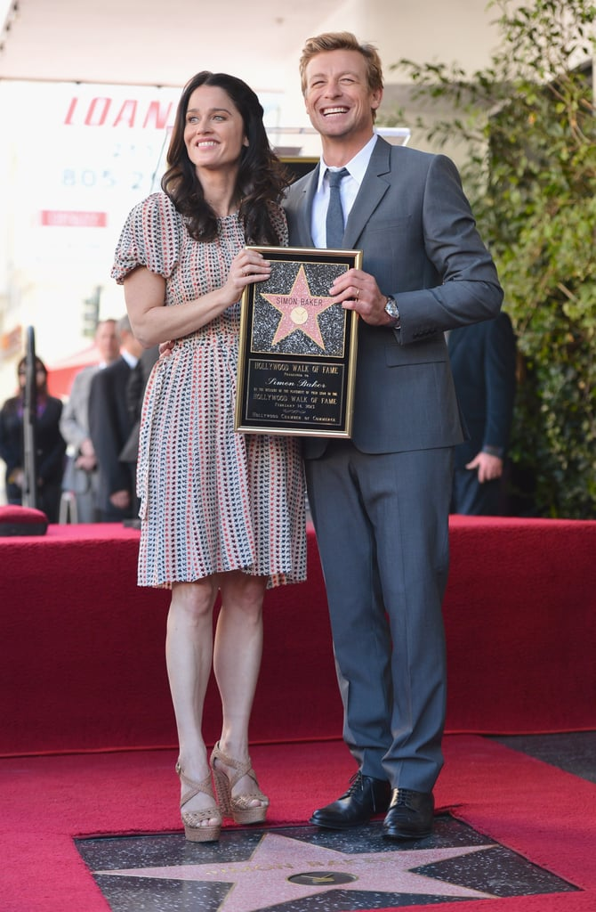 Simon Baker posed with his co-star Robin Tunney at the Walk of Fame ceremony on Thursday.