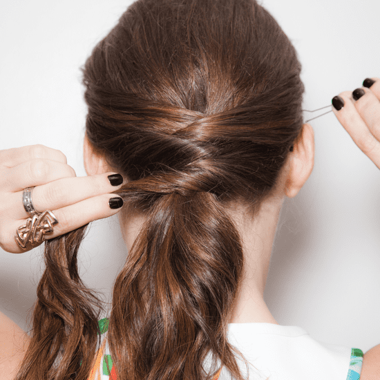 Crisscross Ponytail How-To